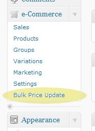 The WPEC Bulk Tools menu item.