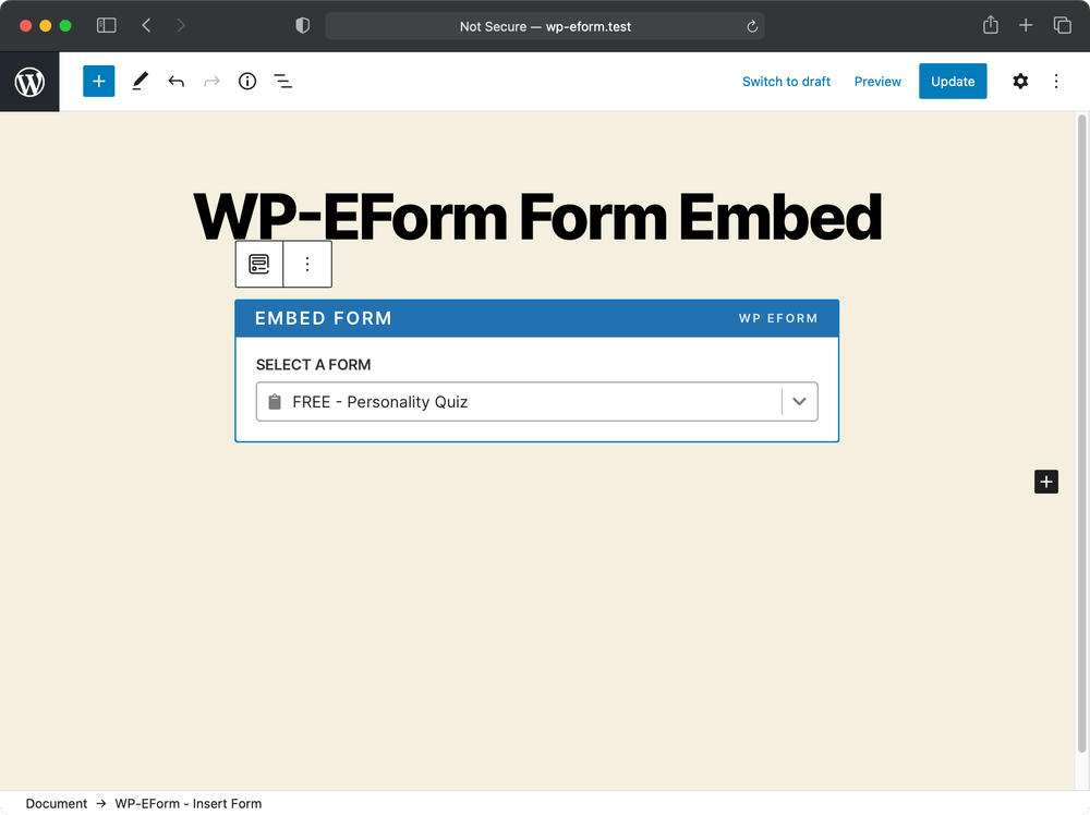 WPEForm Lite – Drag and Drop Live Form Builder for Contact, Payment & Quiz Forms