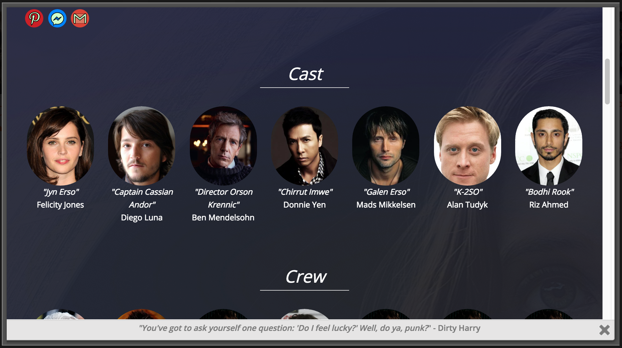 "An example of the Cast Images section. Cast and Crew Image Sections are only available with <a href=""https://www.jakerevans.com/shop/"">WPFilmList Premium</a>."