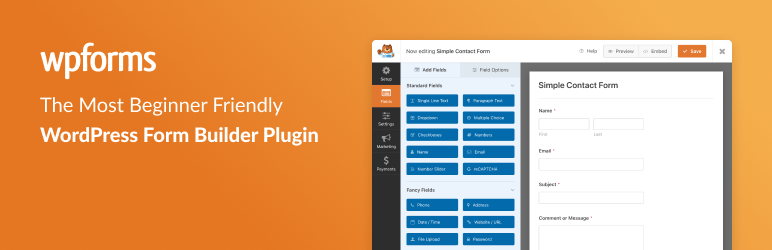 Contact Form da WPForms – Drag & Drop Form Builder per WordPress