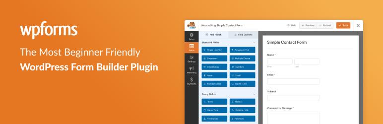 Contact Form da WPForms – Drag & Drop Form Builder per WordPress