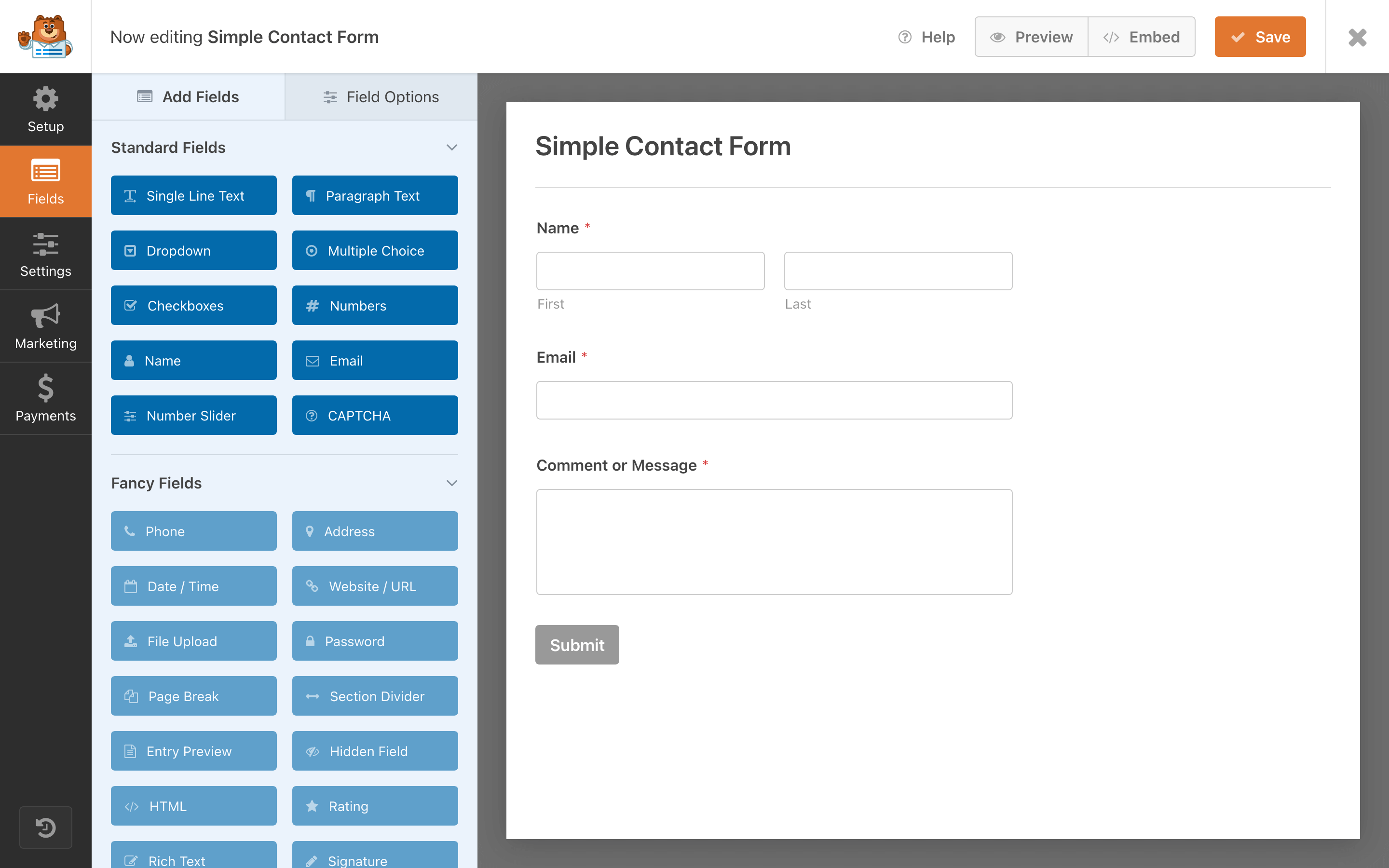 WPForms Drag & Drop Online Form Builder