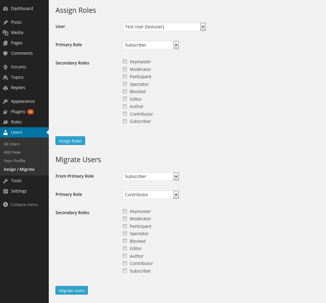 wpfront-user-role-editor screenshot 3