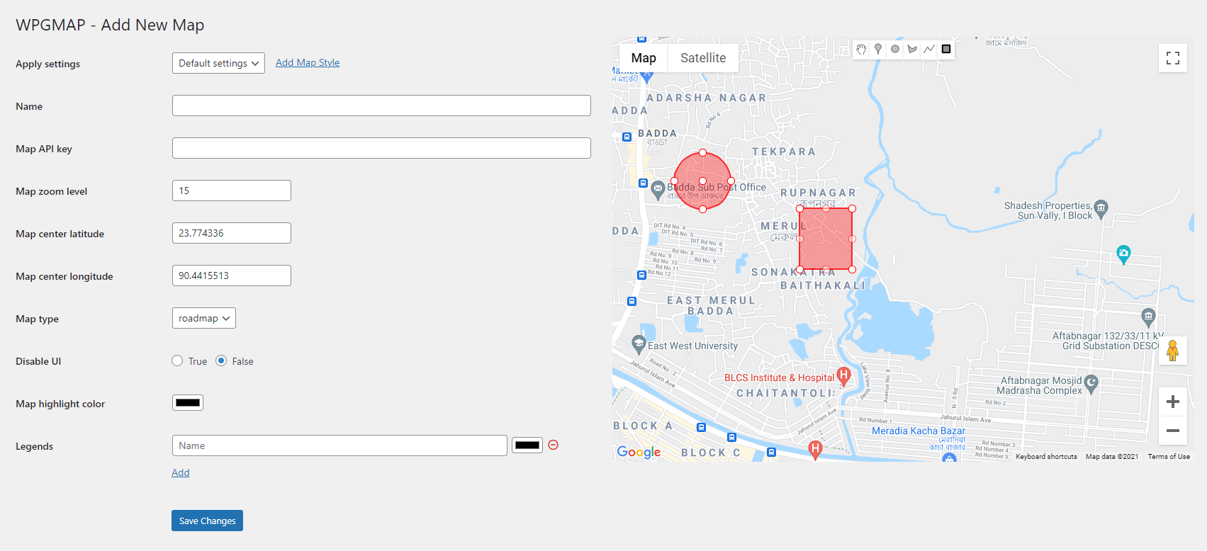 Adding multiple shapes with Google Map Drawing Manager