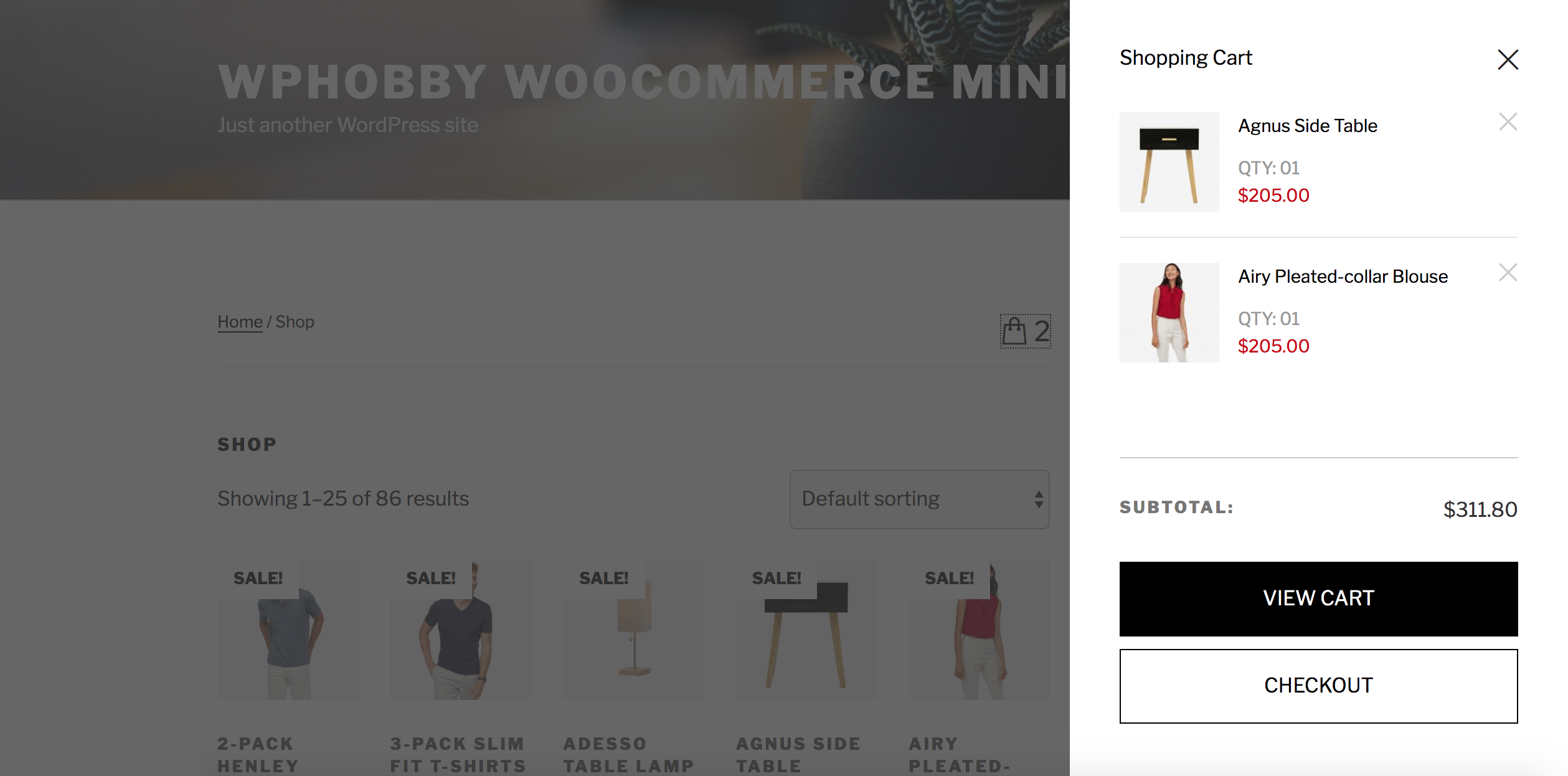 Frontend: WooCommerce Mini Cart