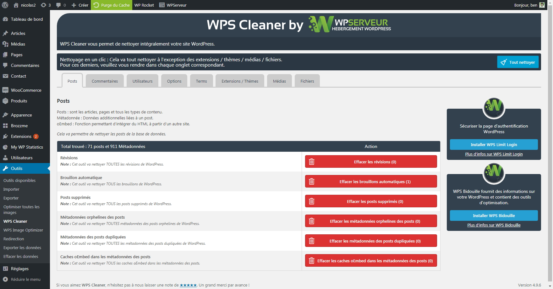 WPS Cleaner – WordPress plugin | WordPress org