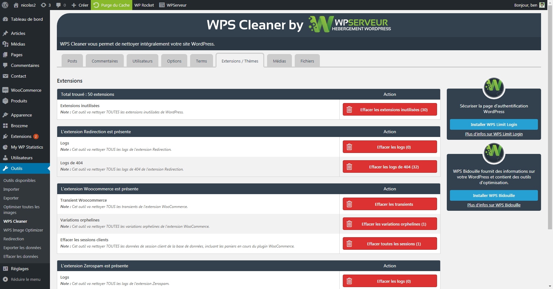 Cleaning plugins/themes