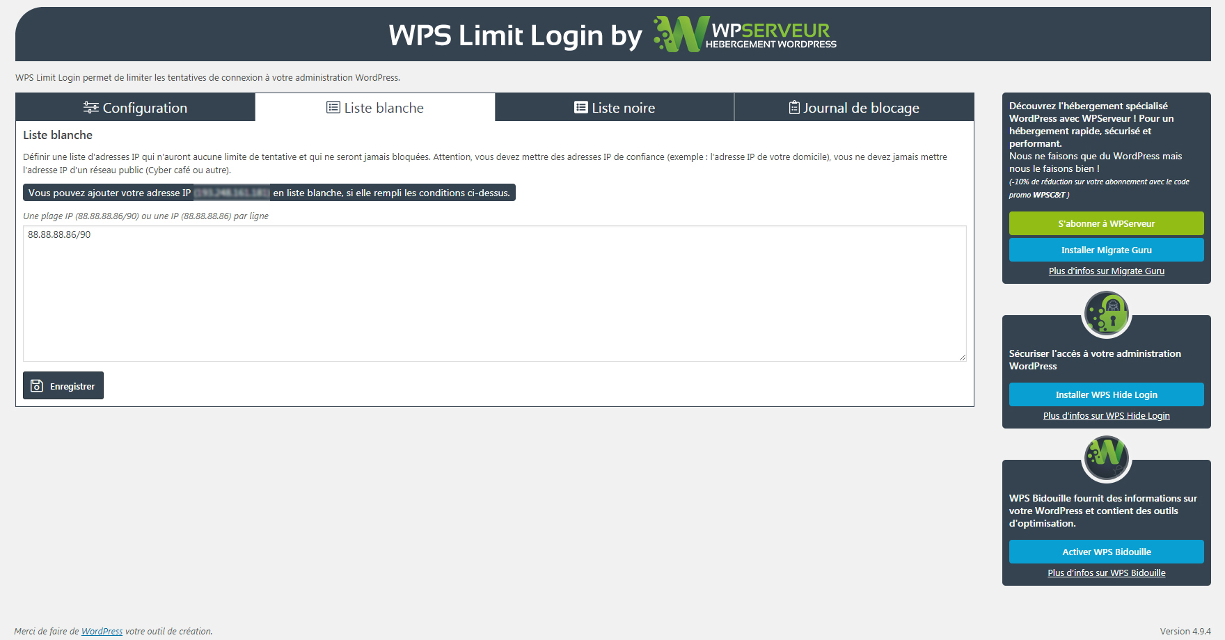 WPS Limit Login