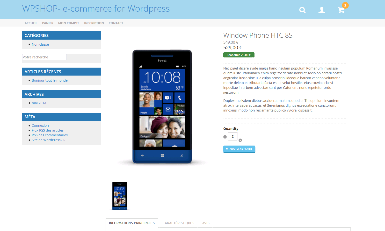 wpshop screenshot 1