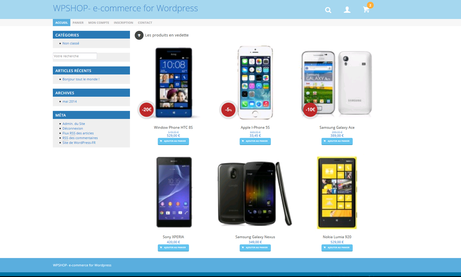wpshop screenshot 2