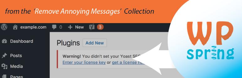Remove Yoast License Warning