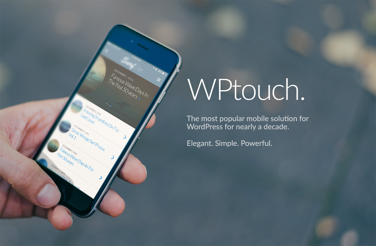WPtouch wordpress plugin