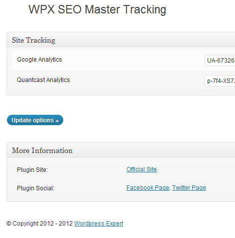 Site tracking display