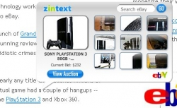 "An example of ZinText in action, here showing products related to ""Playstation 3"""