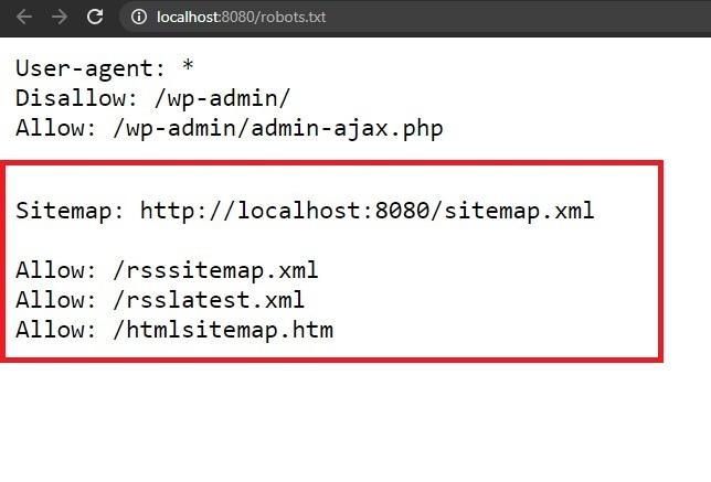 Sitemap entries in Robots.txt