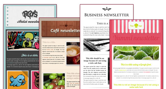 Sample newsletters.