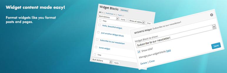 Widget Content Blocks