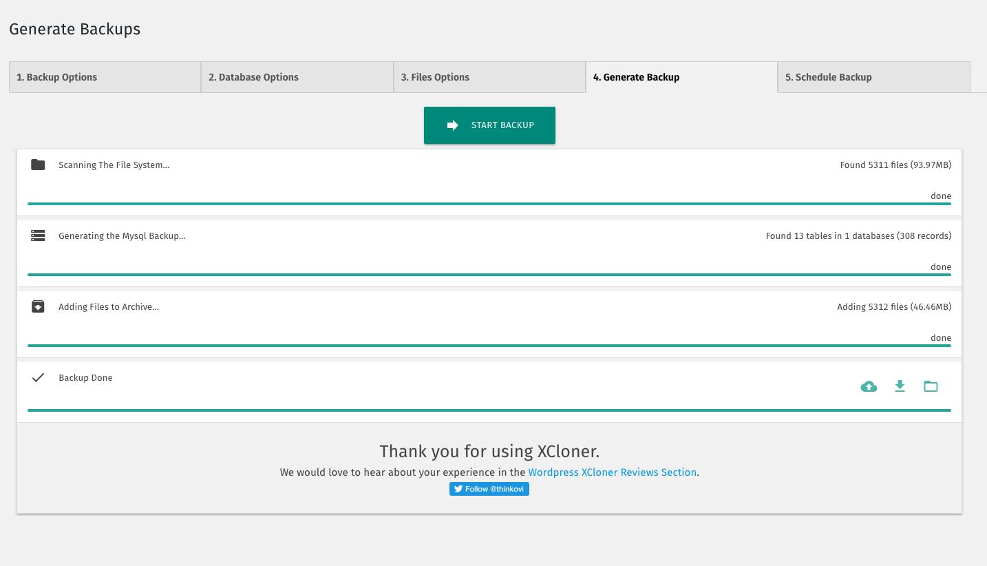 XCloner – Backup and Restore – WordPress plugin   WordPress org