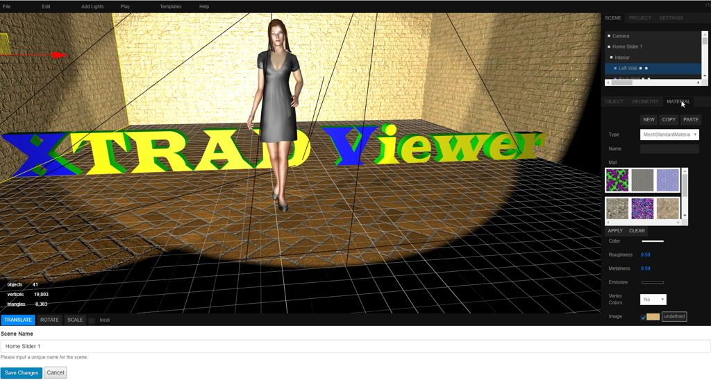 This shows the Xtrad Viewer in modifying mode.