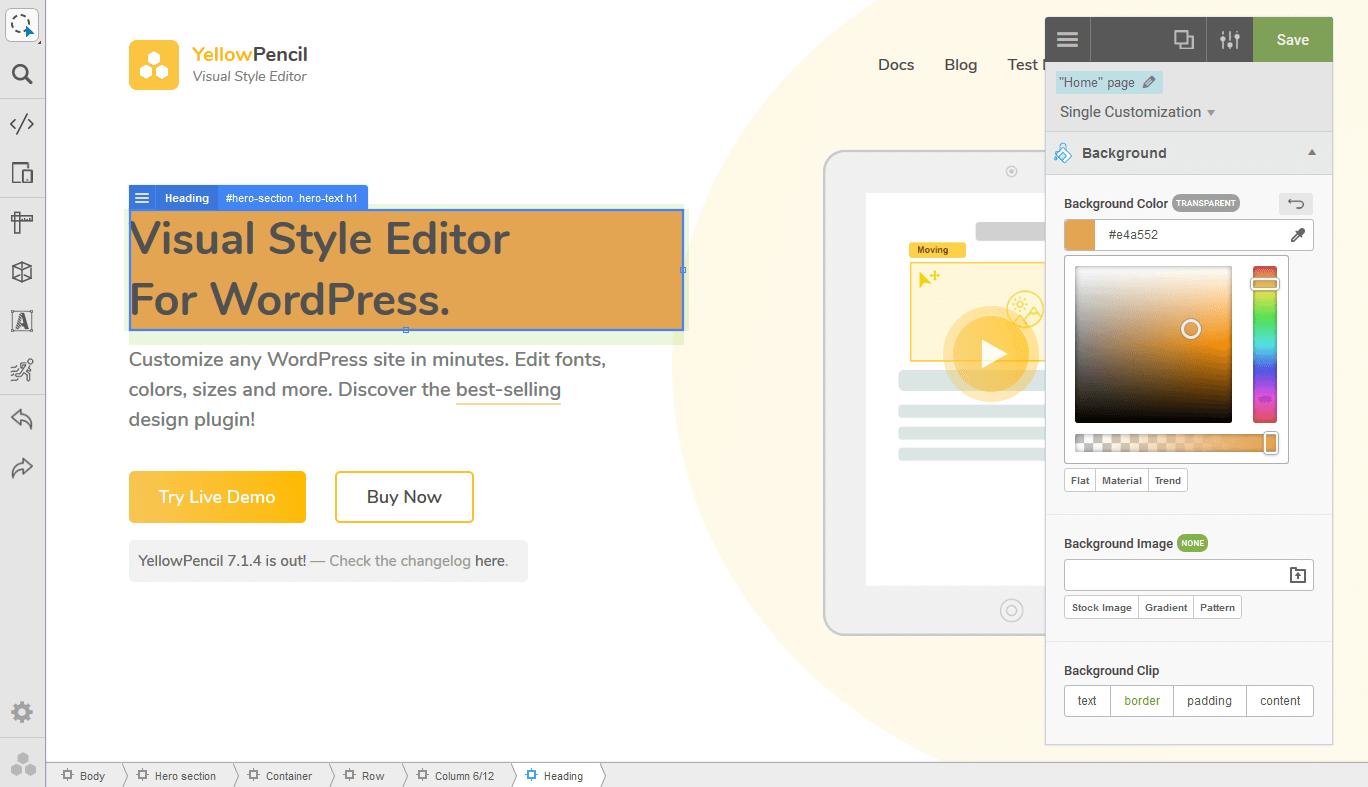 visual css style editor u2014 wordpress plugins