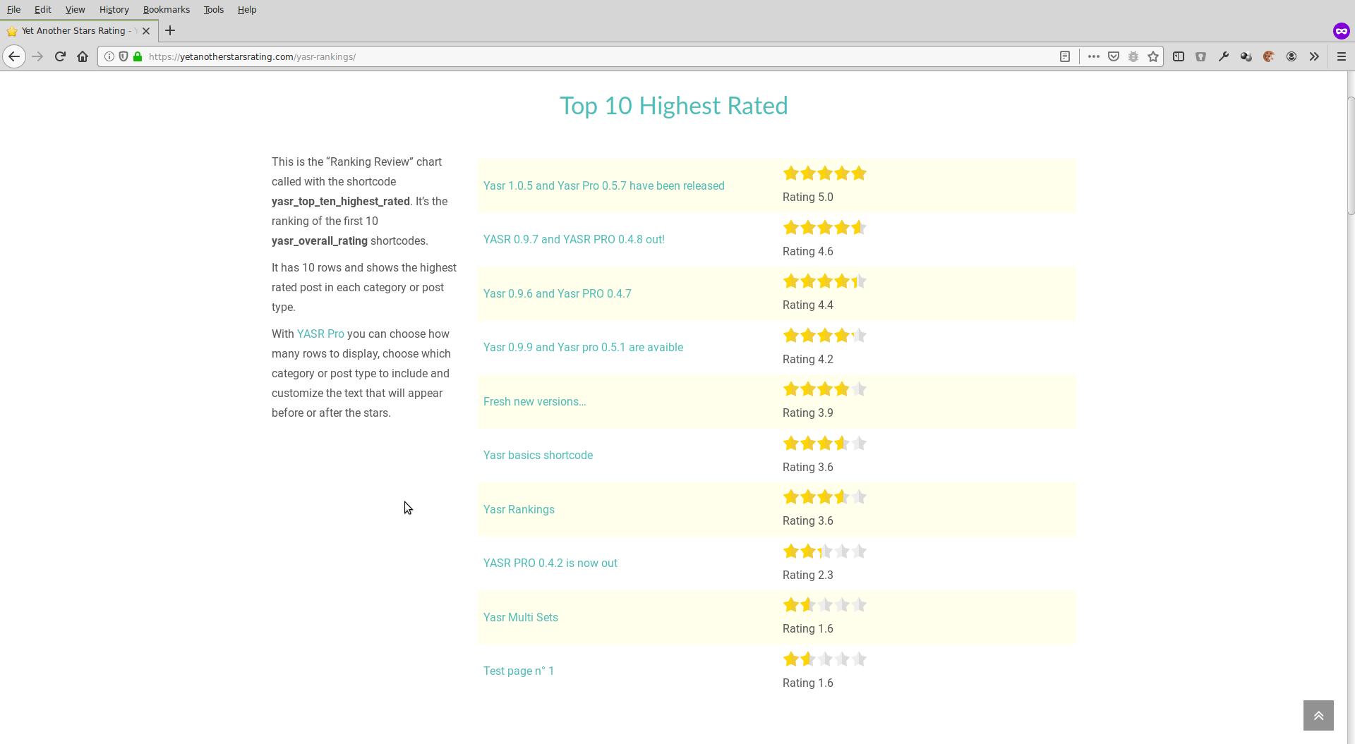 Ranking reviews
