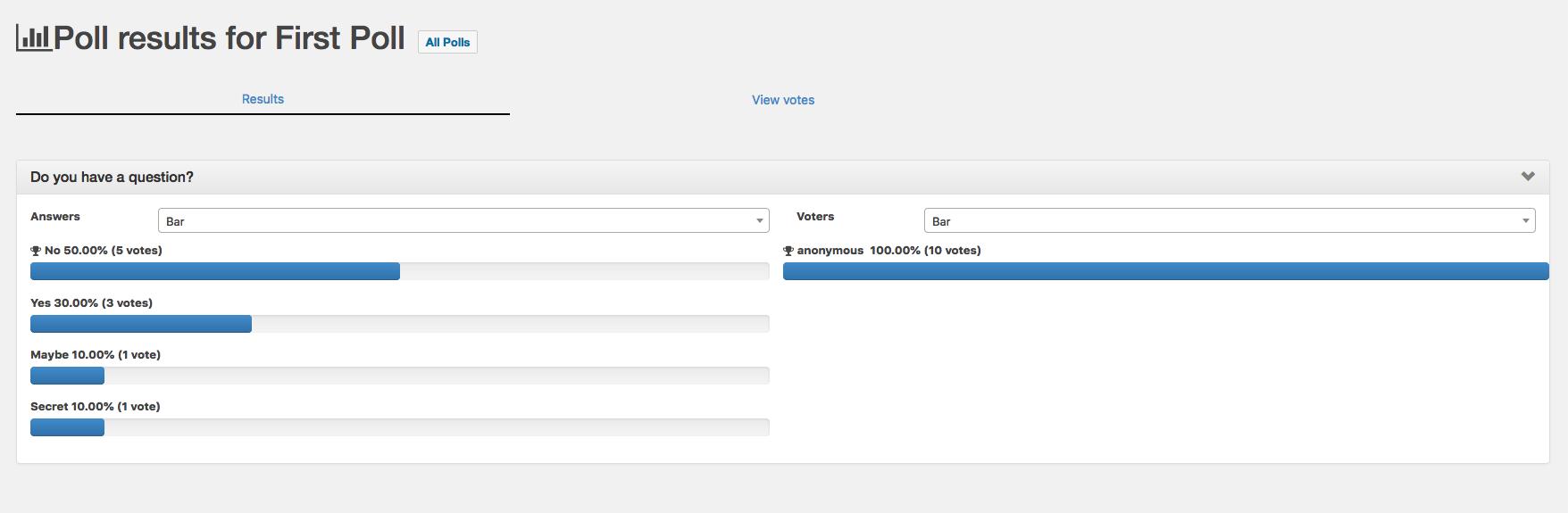 YOP Poll – WordPress plugin | WordPress org