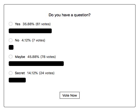 Estadísticas de encuesta