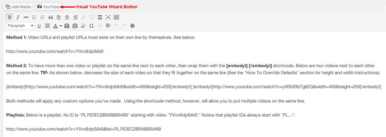 YouTube – Plugin WordPress | WordPress org