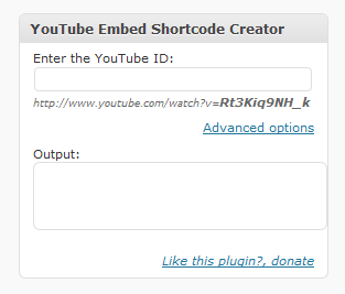 youtube-white-label-shortcode screenshot 1