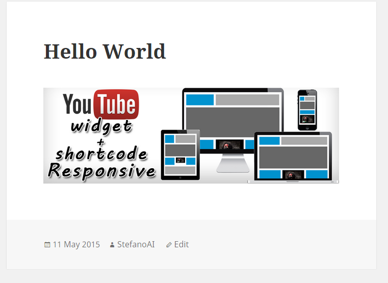 Youtube Widget Responsive – WordPress plugin | WordPress org