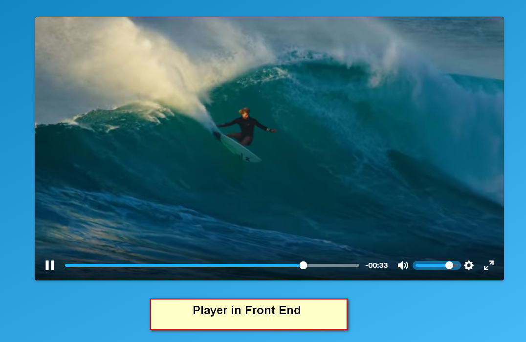 The player in frontend