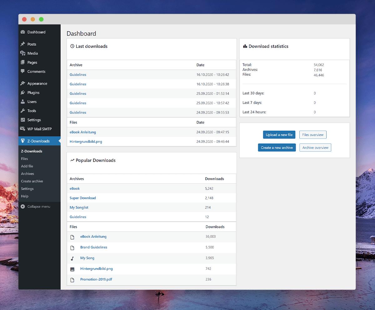 Detailansicht Datei mit Audioplayer