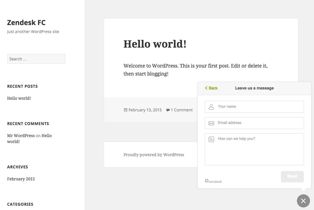 Zendesk Support for WordPress – Extensió del WordPress