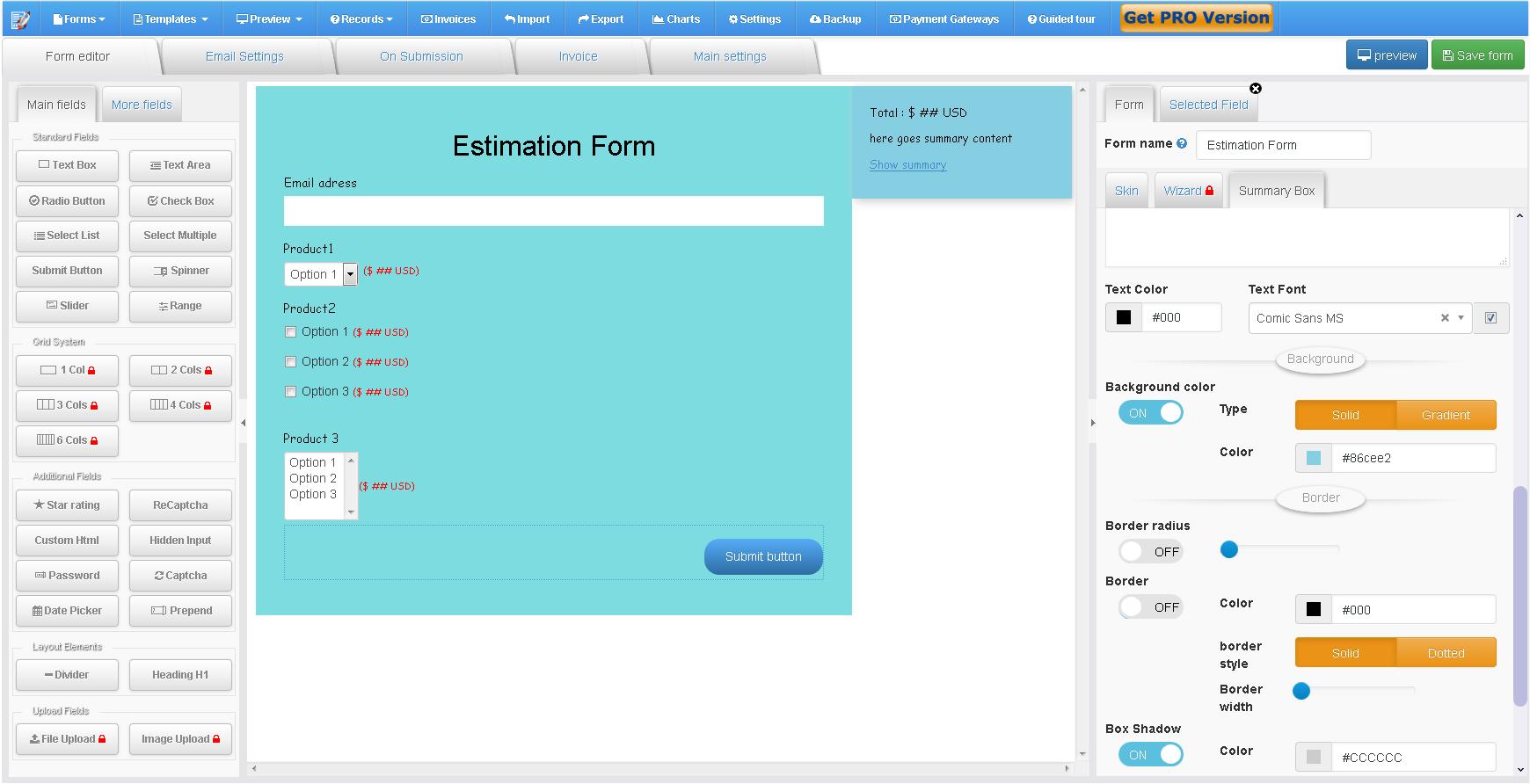 Zigaform – Price Calculator & Cost Estimation Form Builder