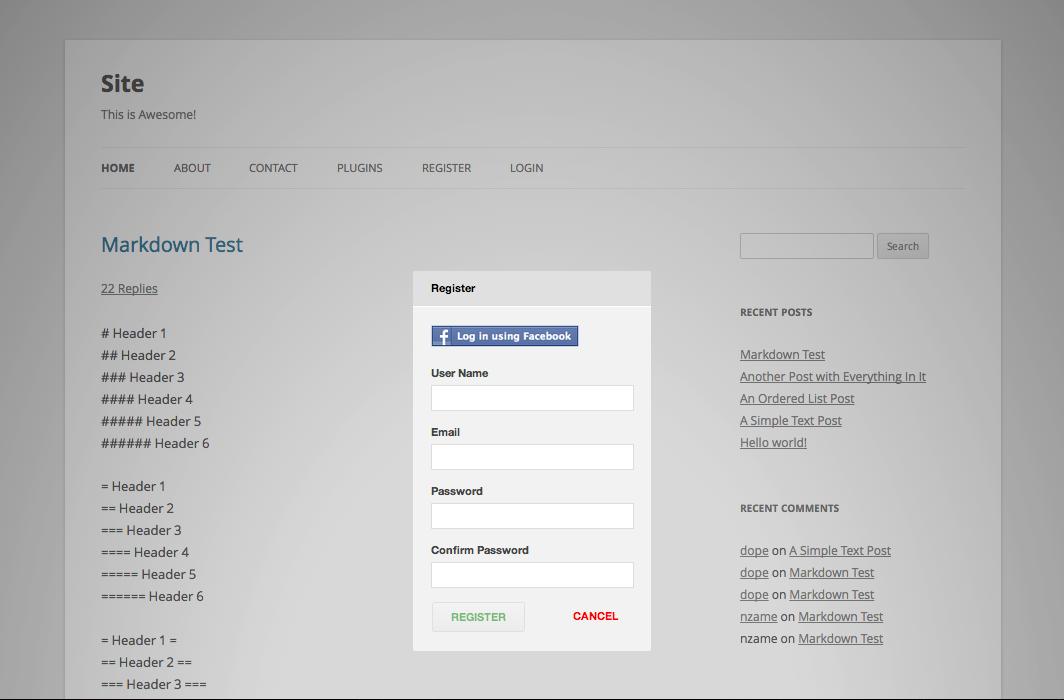 Facebook Traffic Pop for WordPress Plugin Demo