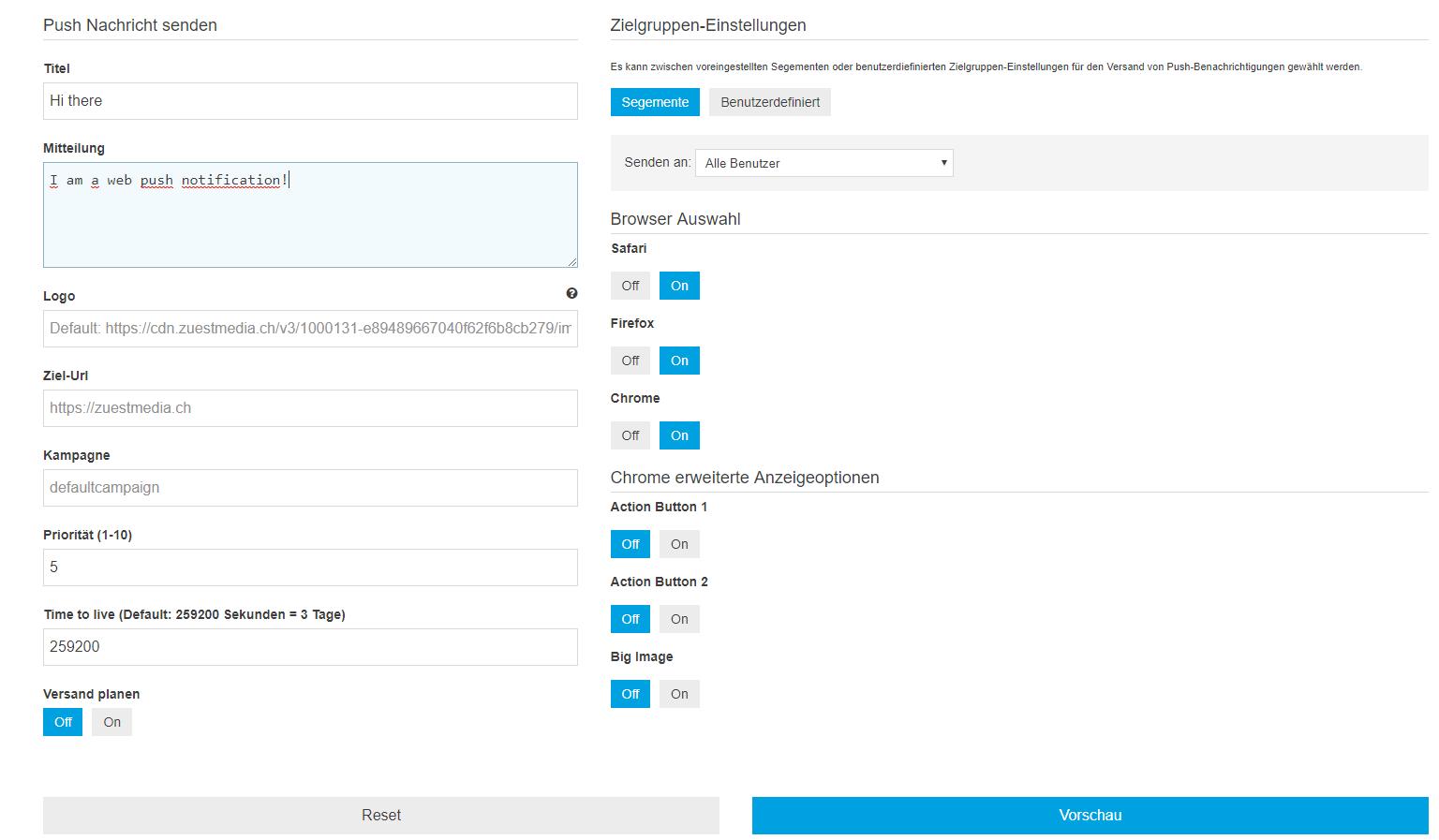 ZMPush – Web Push Notifications