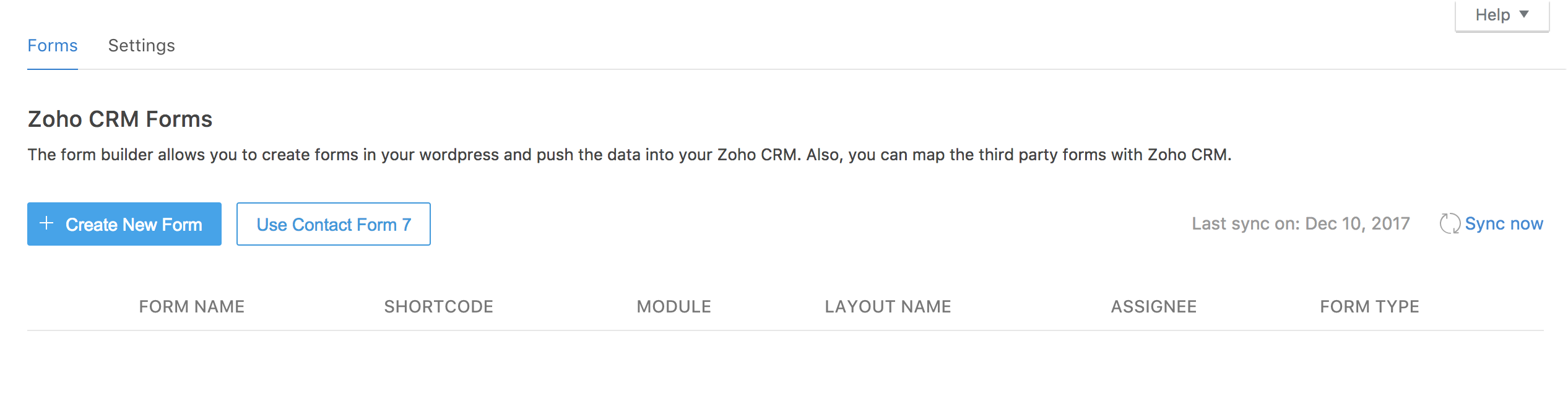 Zoho CRM Forms