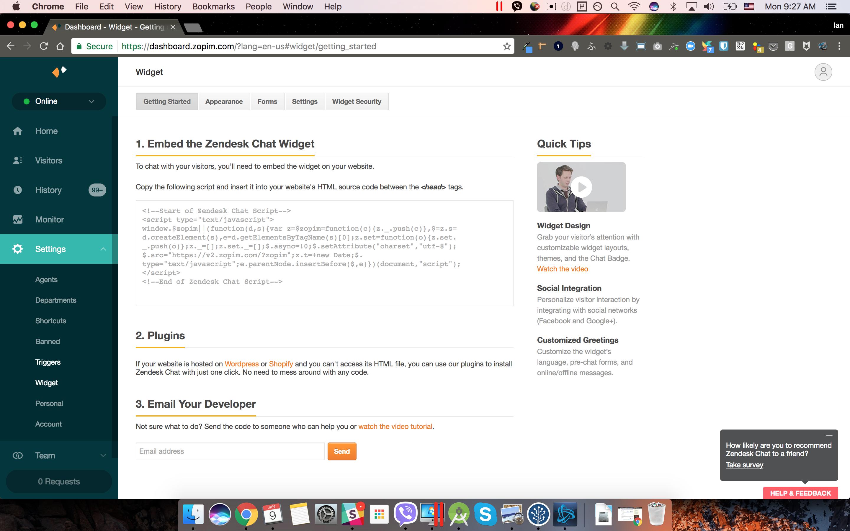 Zendesk Chat – WordPress plugin | WordPress org